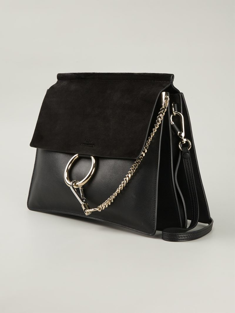 Chlo Chlo Faye Shoulder Bag in Black  Lyst