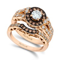 Lyst - Le Vian Chocolate and White Diamond Engagement Ring ...