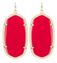 Kendra scott Danielle Earrings, Bright Red in Red