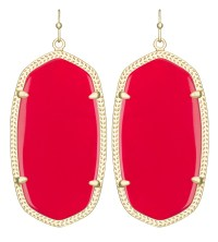 Kendra scott Danielle Earrings, Bright Red in Red | Lyst