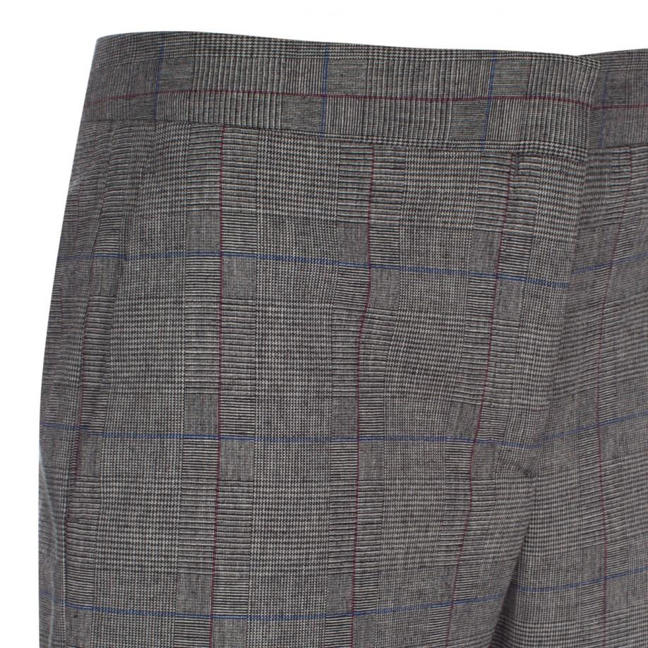 Lyst Paul Smith Womens Grey Prince Of Wales Check Wool
