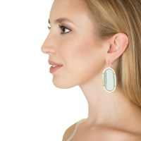 Kendra scott Danielle Earrings, Bright Red in Red