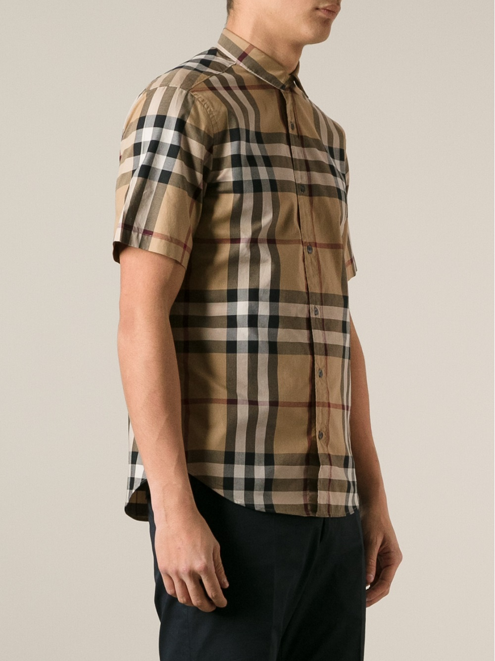 Lyst - Burberry Brit Checked Shirt in Natural for Men