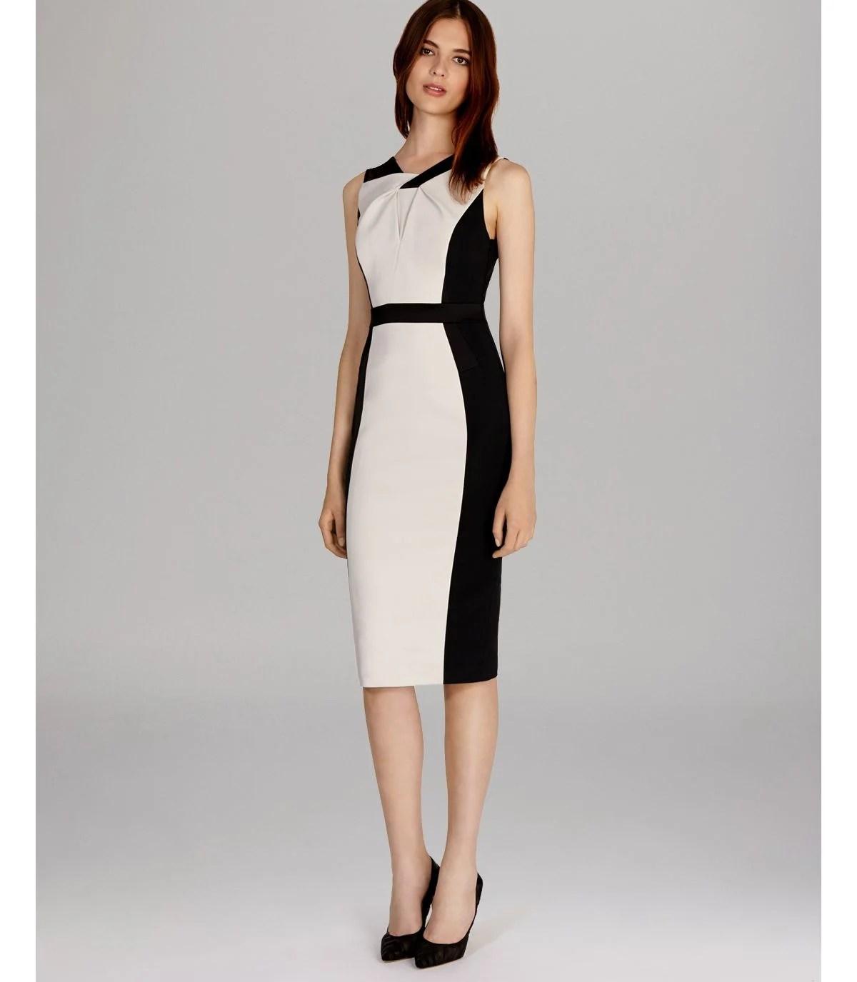 Lyst  Karen Millen Dress Graphic Color Block in White