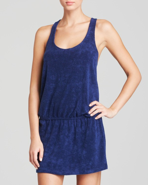 Splendid Terry Swim Cover Dress In Blue Lyst