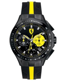 Ferrari Men' Chronograph Race Day Black And Yellow