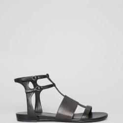 af3cd30d5d9 Lyst Enzo Angiolini Open Toe Flat Sandals Nyri In Black