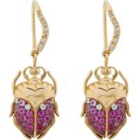 Lyst - Aurelie Bidermann Scarab Drop Earrings in Metallic