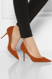 Jimmy Choo Agnes Suede Pumps in Red - Lyst