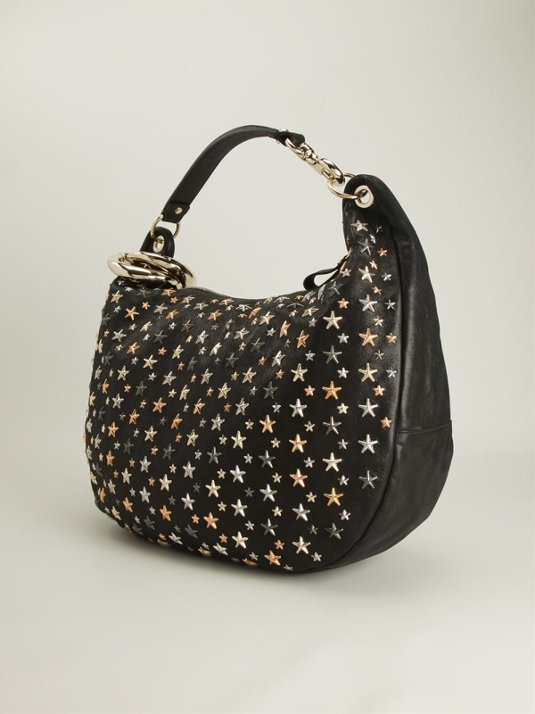 Lyst - Jimmy Choo Solar Hobo Bag In Metallic
