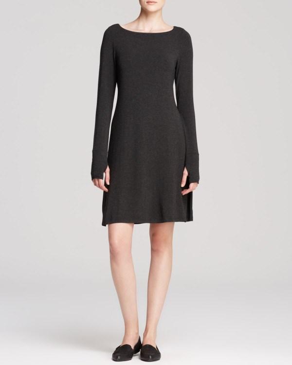 Lyst - Eileen Fisher Bateau Neck Dress In Gray