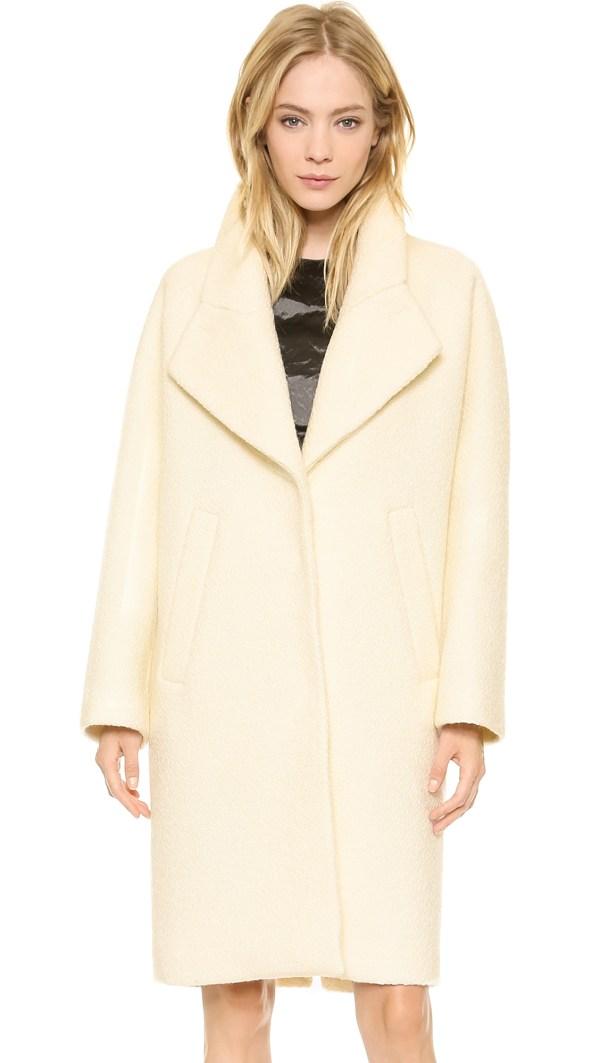 Lyst - Carven Wool Coat Ecru In White
