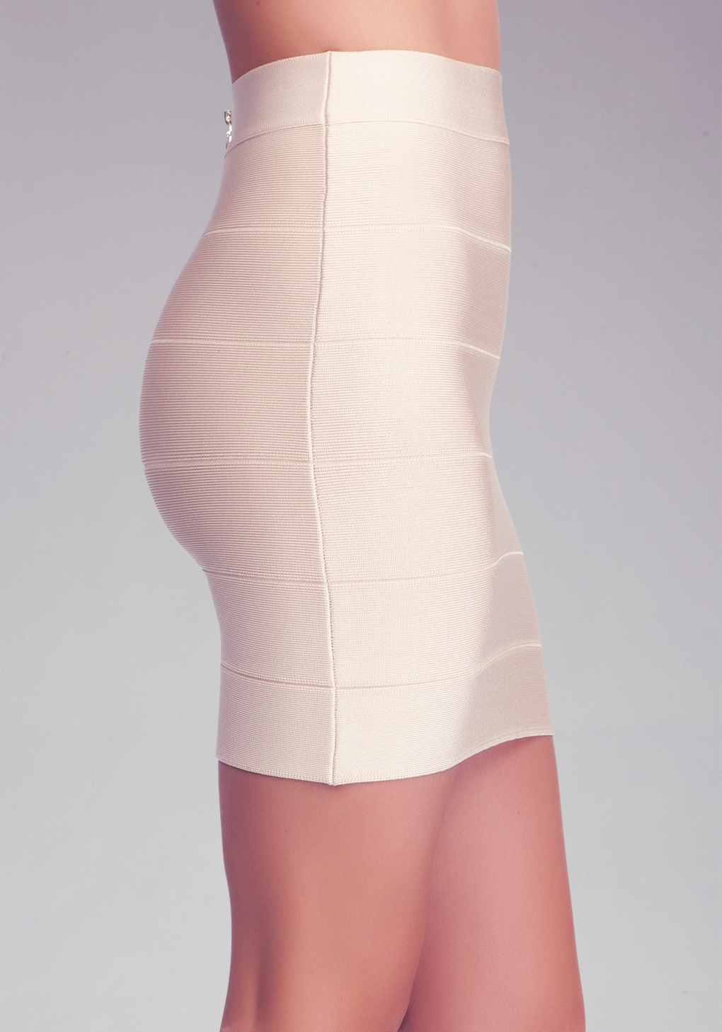 Lyst  Bebe Solid Bandage Skirt in Natural