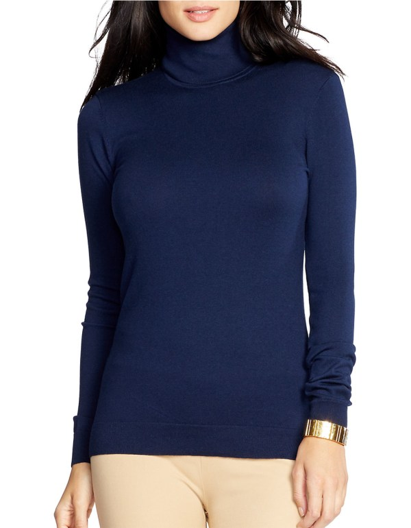 Lyst - Lauren Ralph Silk-cotton Turtleneck