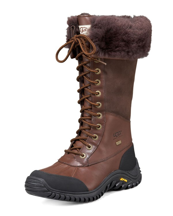 Cusp Adirondack Tall Leather Shearling Boot In Brown