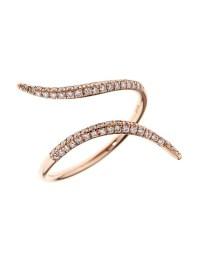 Diane kordas Diamond & Rose-Gold Wrap Ring in Metallic | Lyst