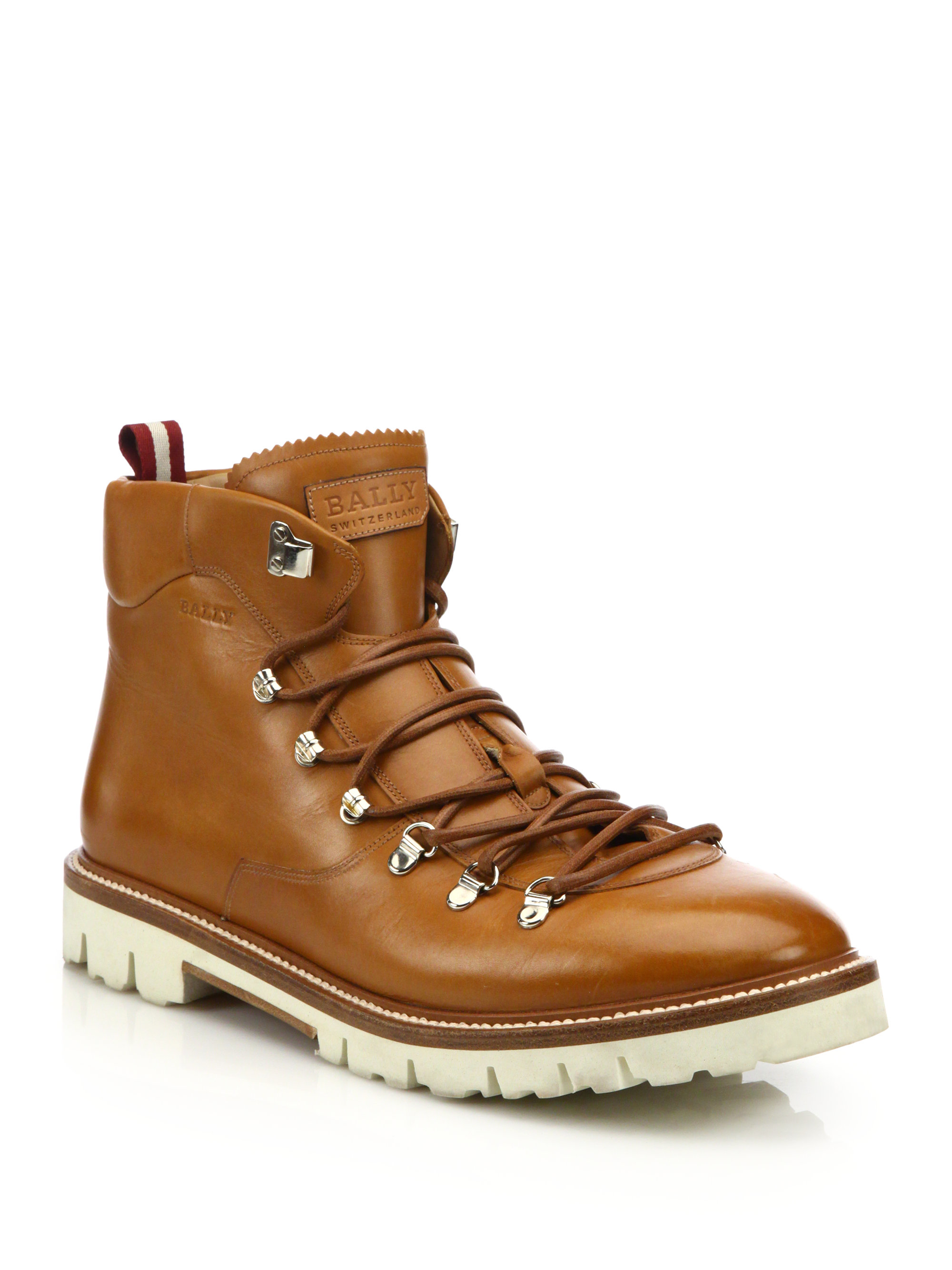 Bally J Cole For Leather Hiking Boots In Brown For Men