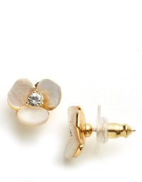 Kate spade new york Disco Pansy Stud Earrings in Natural