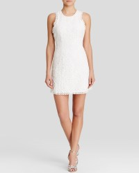 Lyst - Cynthia Rowley Dress - Sleeveless Lace Shift in White