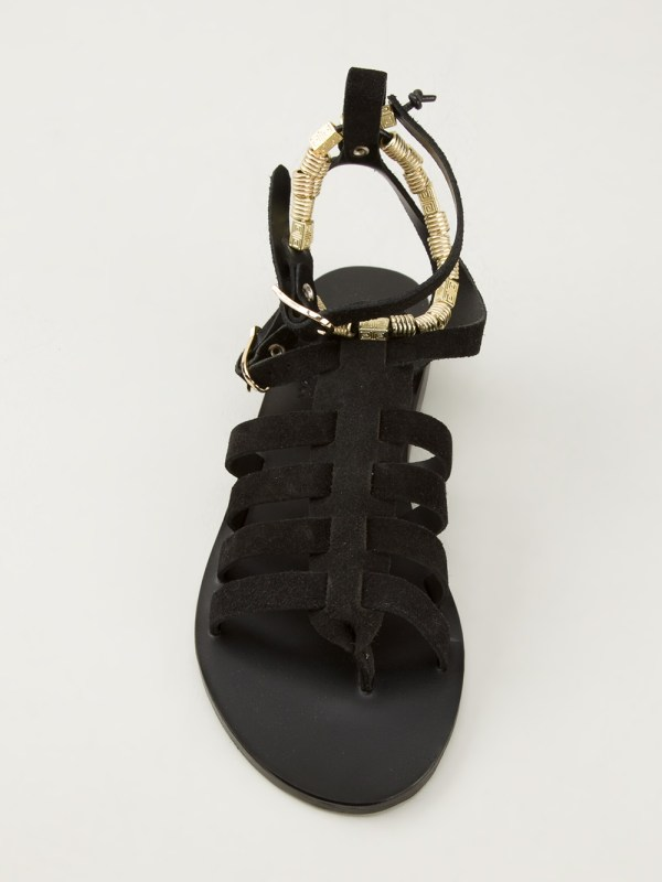 Ancient Greek Sandals Sparta In Black Lyst