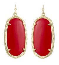 Kendra scott Elle Earrings Red in Red