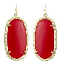 Kendra scott Elle Earrings Red in Red | Lyst