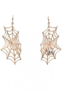 Bernard delettrez Spider Web Earrings in Gold | Lyst