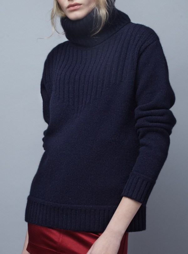 Lyst - Blake Ldn Navy Redfern Turtleneck Sweater
