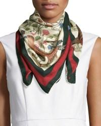 Gucci Square Silk-twill Condor Scarf in Multicolor | Lyst