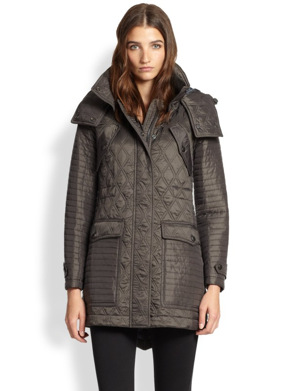 Burberry Brit Bosworth Quilted Anorak In Brown Lyst