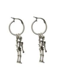 Lyst - Saint laurent Punk Skeleton Earrings in Metallic