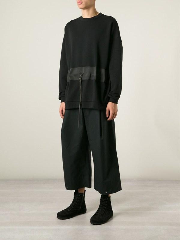 Berthold Wide Leg Cropped Trousers In Black Men Lyst