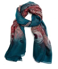 Lyst - Liberty Hera Silk Chiffon Scarf in Blue
