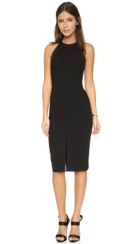 Lyst - Alice + Olivia Jase High Neck Fitted Dress in Black