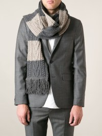 Lyst - Marc Jacobs Cable Knit Scarf in Gray for Men