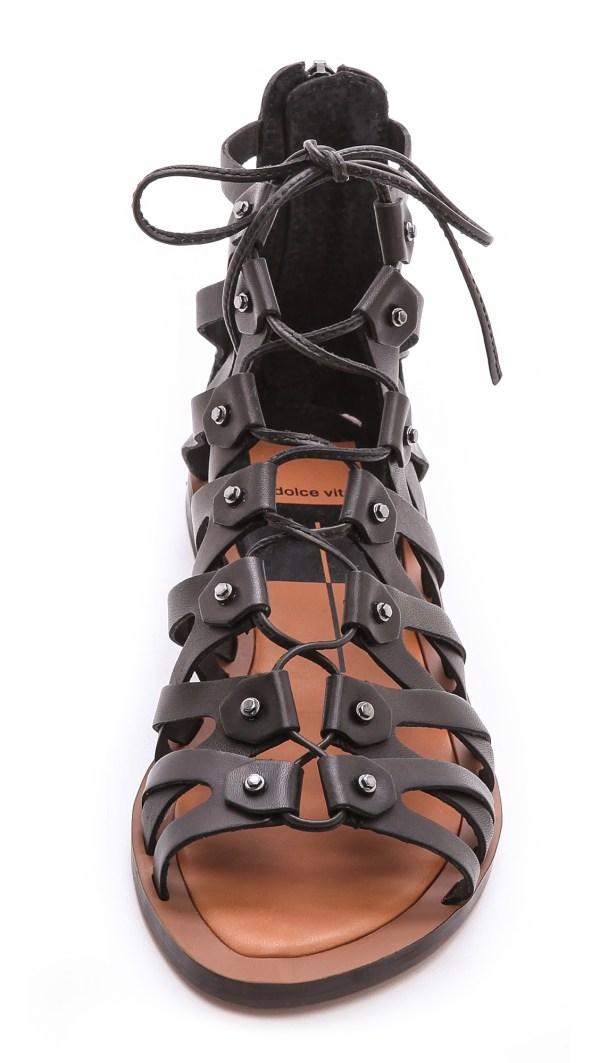 3e1d19c73a8b Dolce Vita Gladiator Sandals Lyst - Dolce Vita Fray Gladiator Sandals In  Black ...