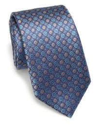 Saks fifth avenue Circle Silk Tie in Blue for Men (navy ...