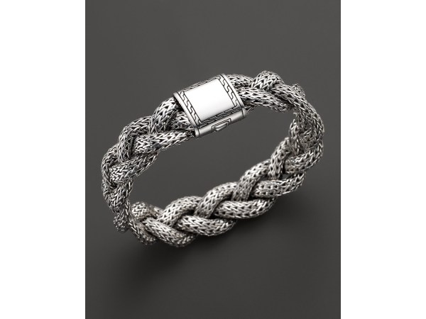 John Hardy Classic Chain Sterling Silver Medium Braided