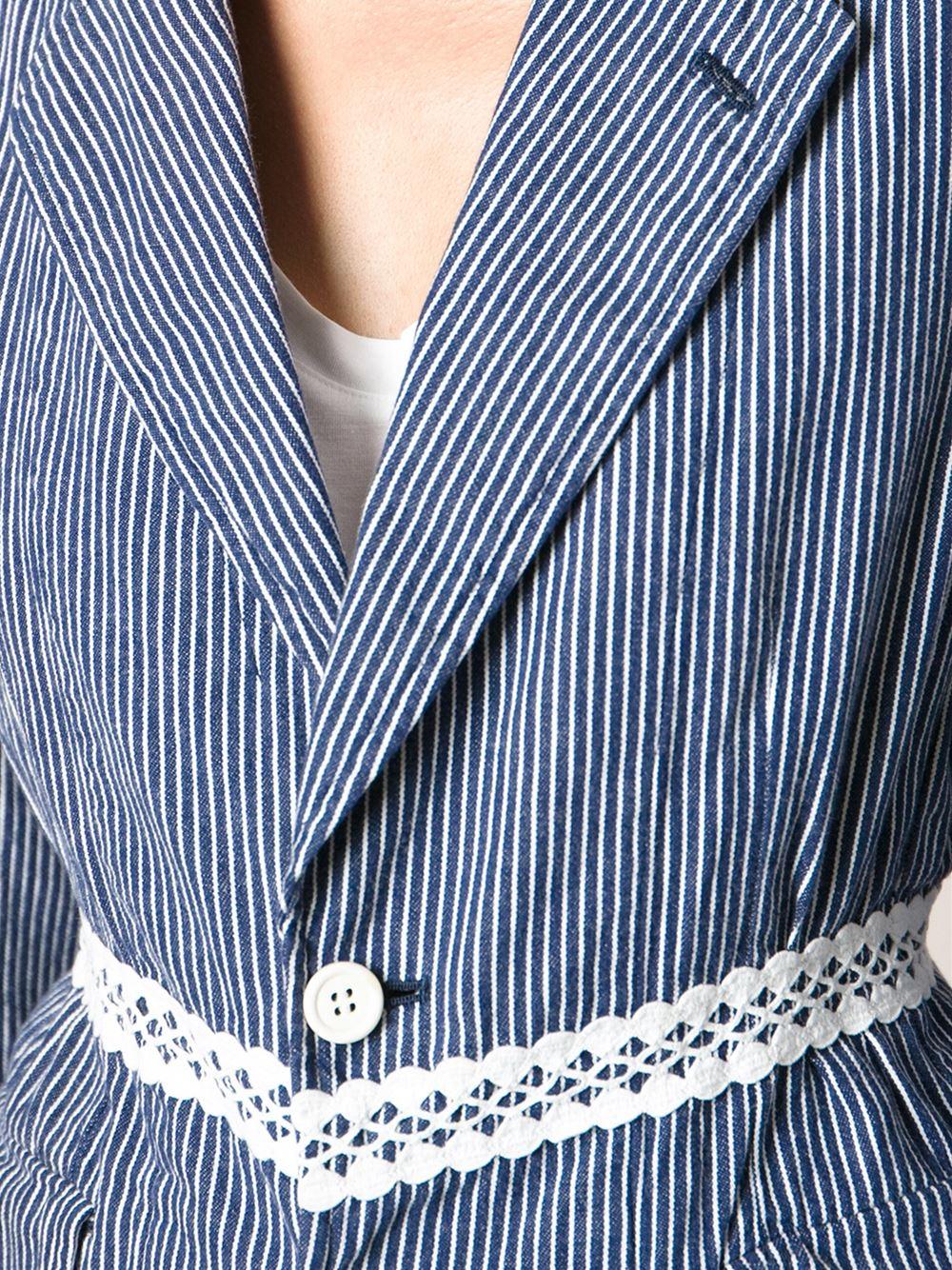 Lyst  Comme Des Garons Robe De Chambre Jacket in Blue