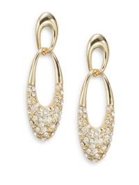 Ak anne klein Interlocking Link Drop Earrings in Metallic ...
