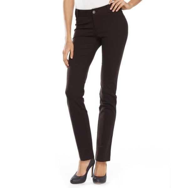 International Concepts Petite Pants Curvyfit Skinny Fivepocket In Black Coffee Bean Lyst