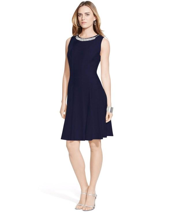 Ralph Lauren Bateau Neck Dress