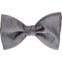 Lanvin Satin Alber Bow Tie in Gray for Men (Grey)