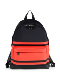 Givenchy Striped Neoprene Backpack in Black for Men