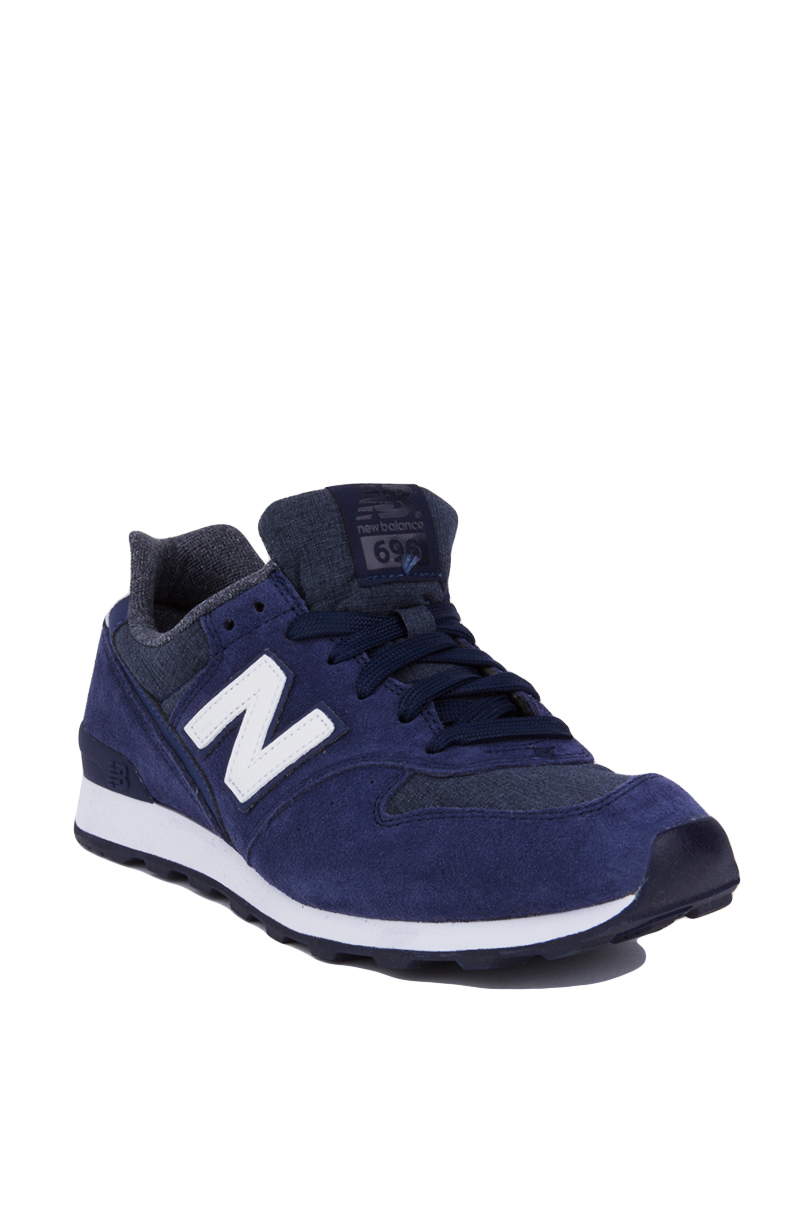 Lyst New Balance 696 Shadows Sneakers Navy In Blue