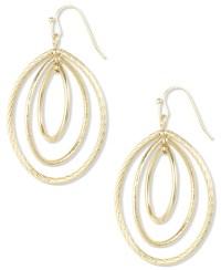 Lyst - Anne Klein Gold-tone Small Oval Drop Earrings in ...