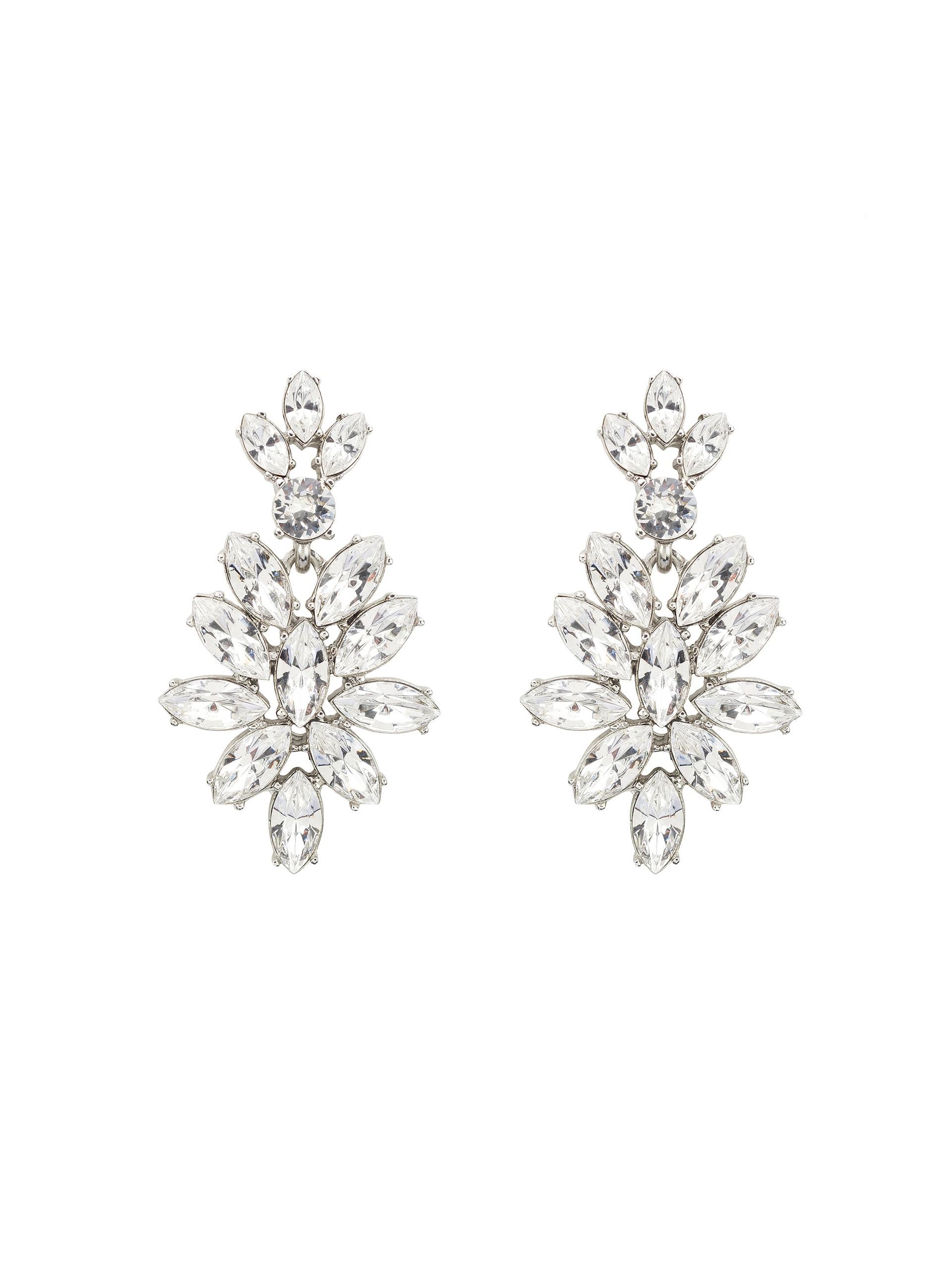 Oscar De La Renta Swarovski Crystal Navette Drop Earrings