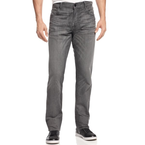 Lrg True Tapered Stretch Jeans In Gray Men Ash Lyst