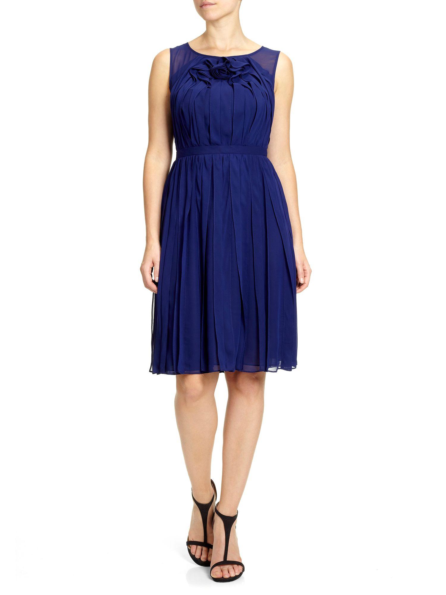 Adrianna papell Sleeveless Rosette Prom Dress in Blue  Lyst