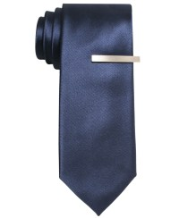Alfani Solid Skinny Tie in Blue for Men (Navy) | Lyst